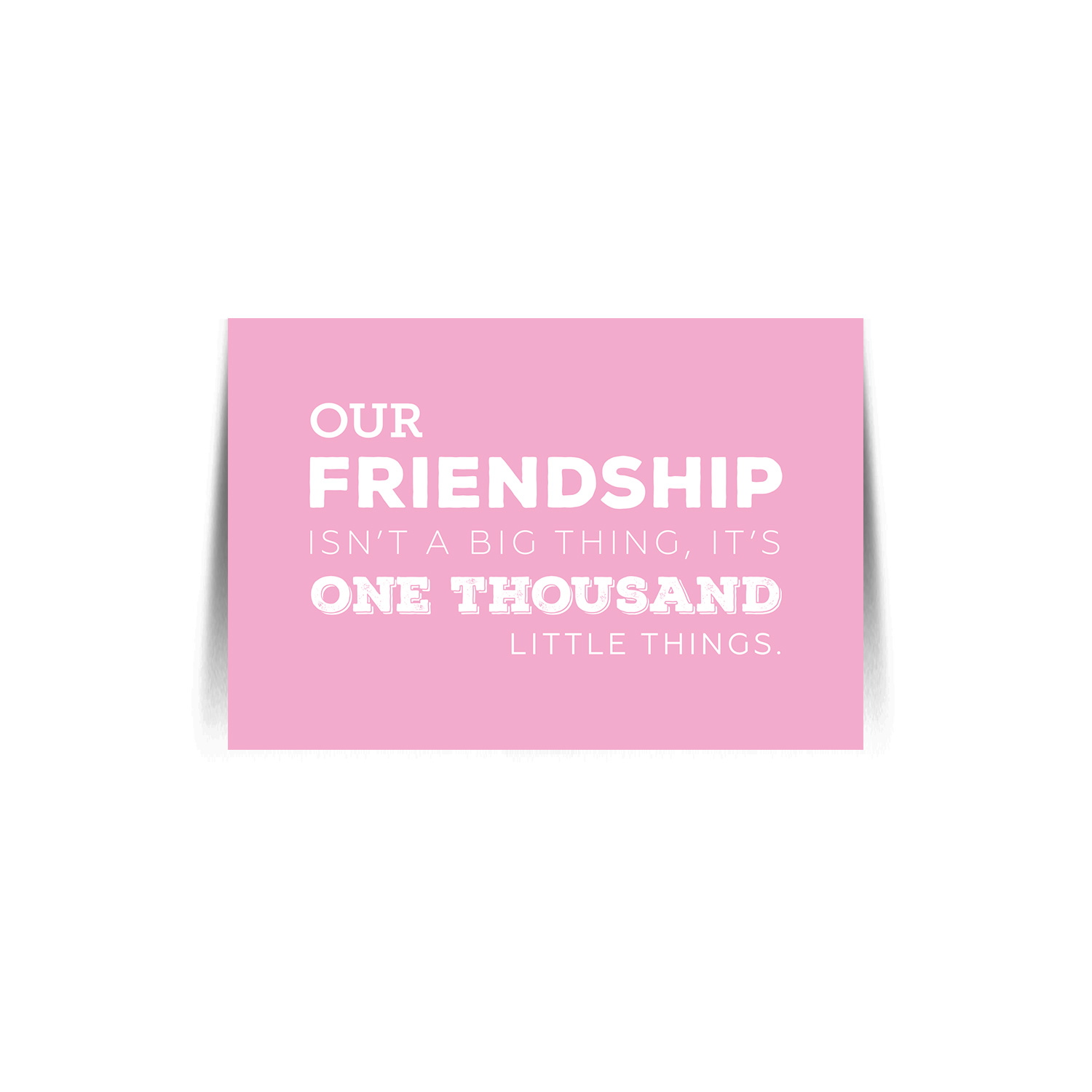 Friendship Quote Card