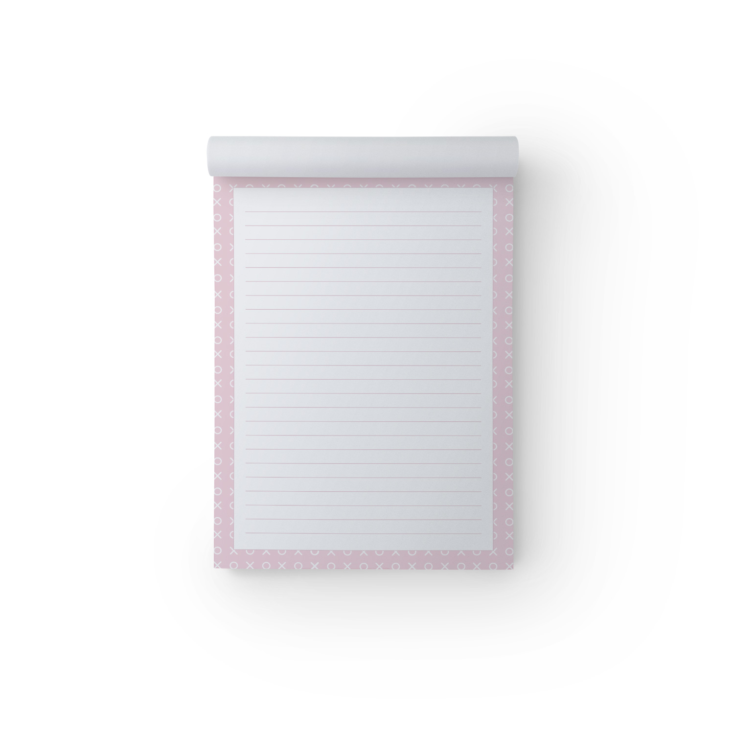 X O Pink A5 Notepad