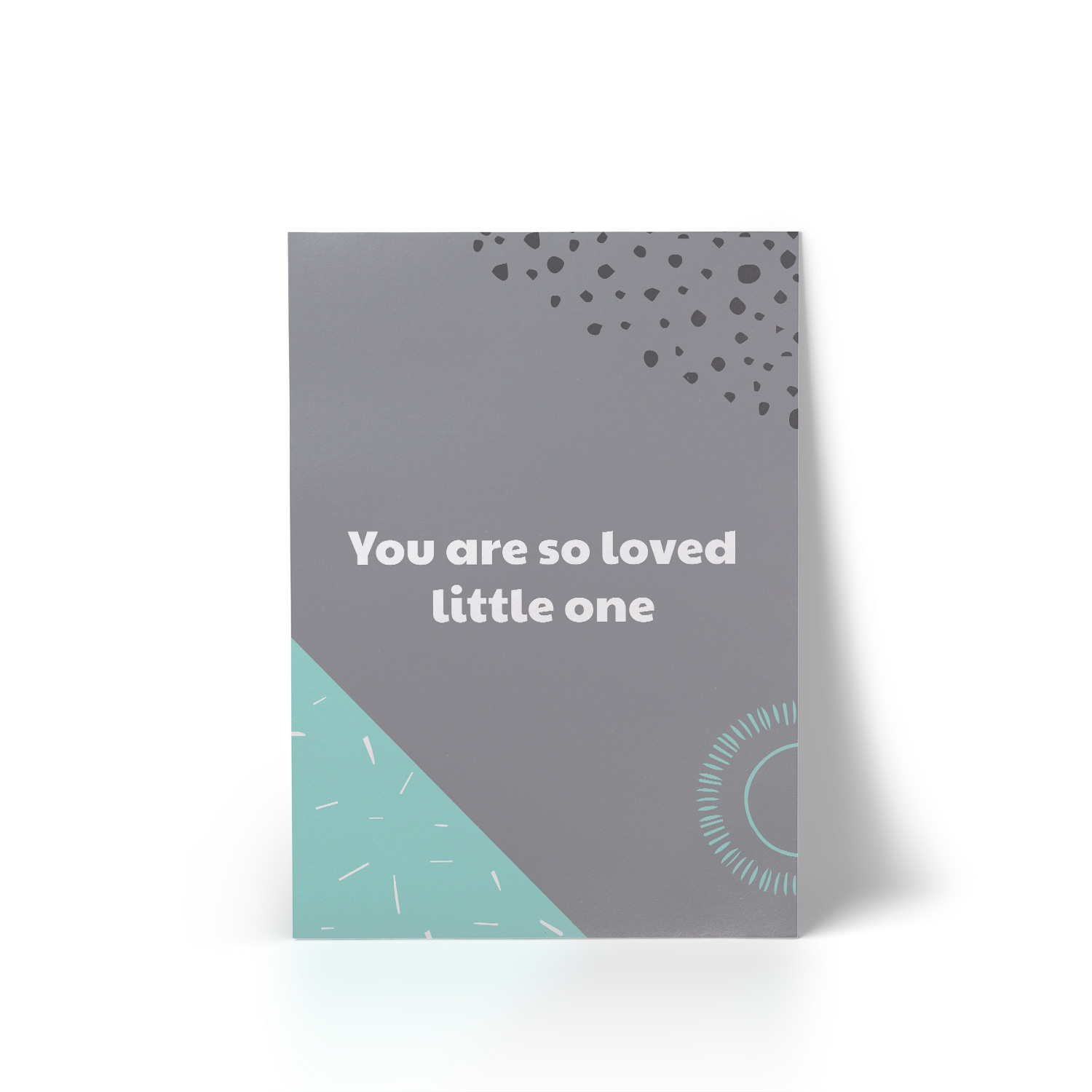 You Are So Loved Mint A4 Art Print