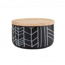 Black Feather Wide Canister