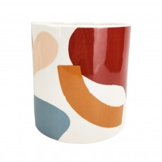Elena Abstract Large Planter Pink Blue