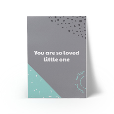 You Are So Loved Mint A3 Art Print