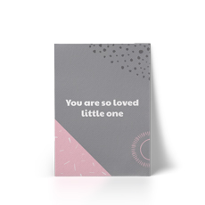You Are So Loved Pink A4 Canvas Print