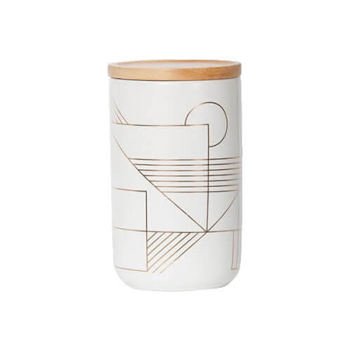 Gold Deco Tall Canister