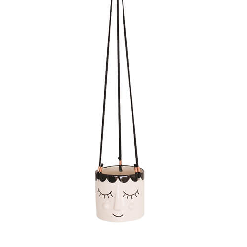 Happy Face Hanging Planter