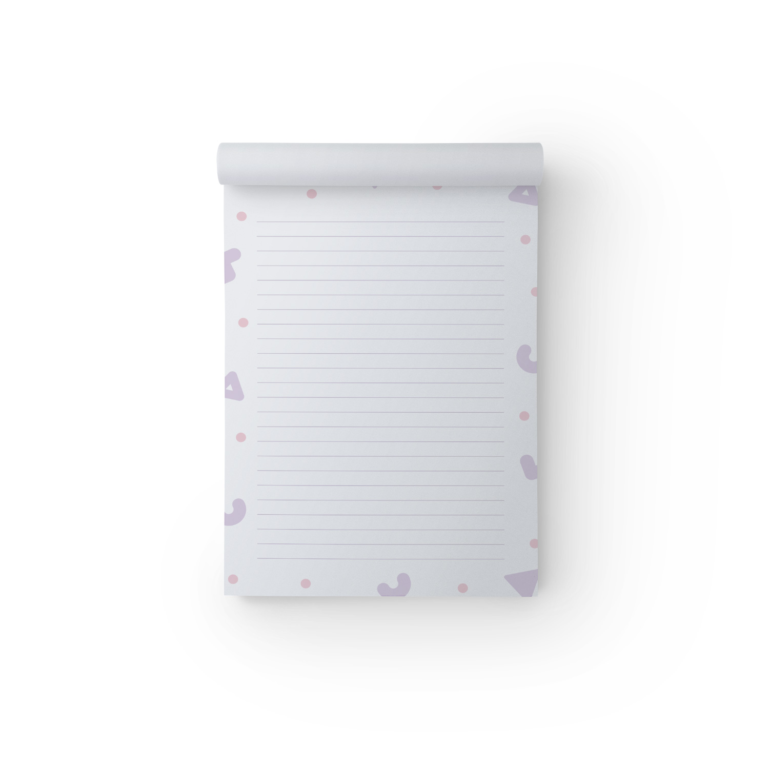 Purple Shapes A5 Notepad