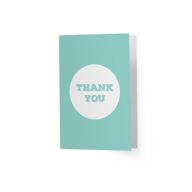 Thank You Mint Greeting Card
