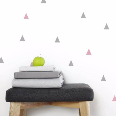 White Triangles Wall Decals