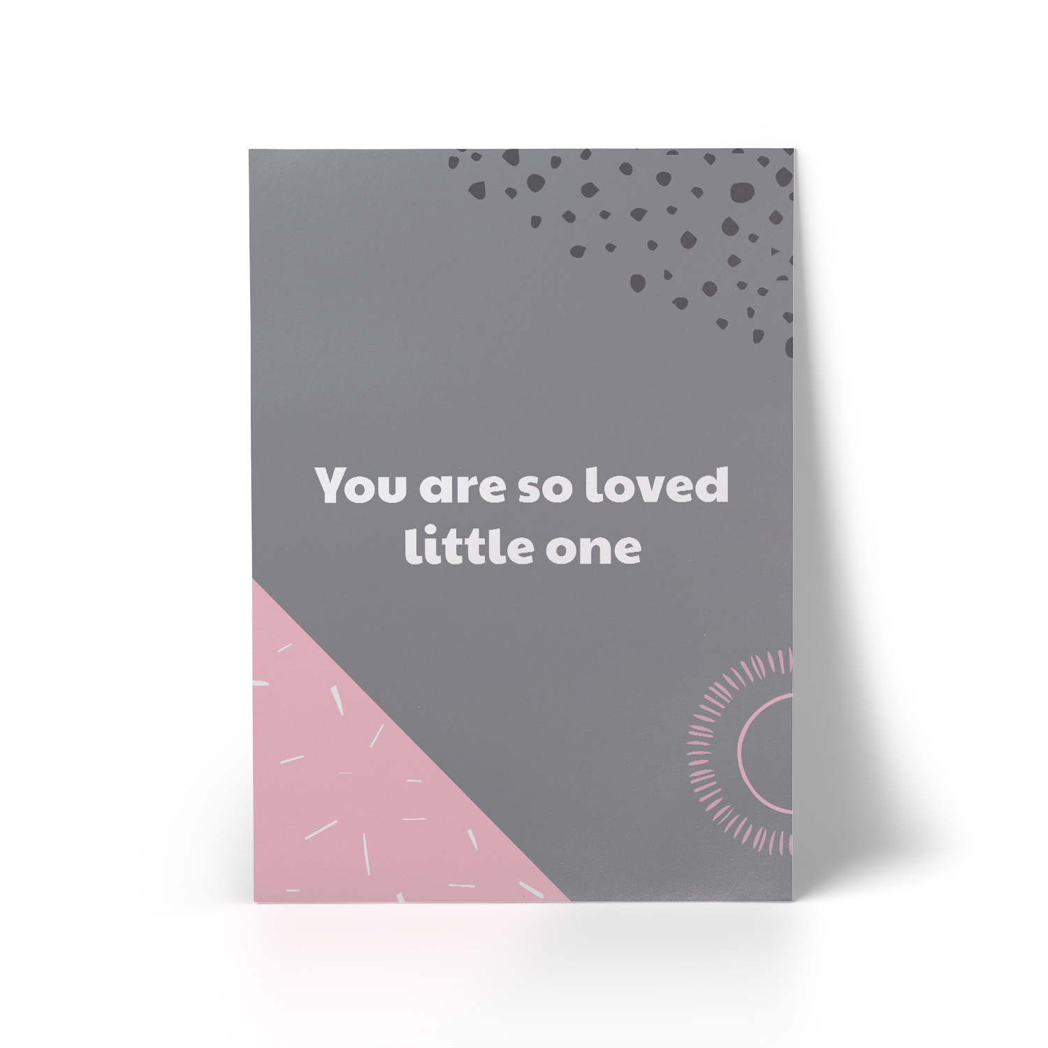 You Are So Loved Pink A3 Art Print
