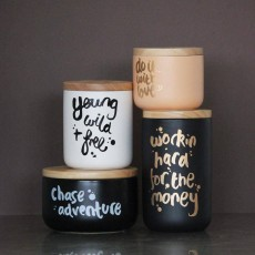 Do It With Love Apricot Gold Canister