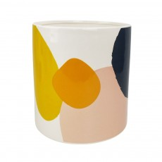 Elena Abstract Large Planter Blue Yellow