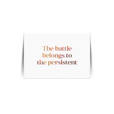 The Battle Belongs Quote Card